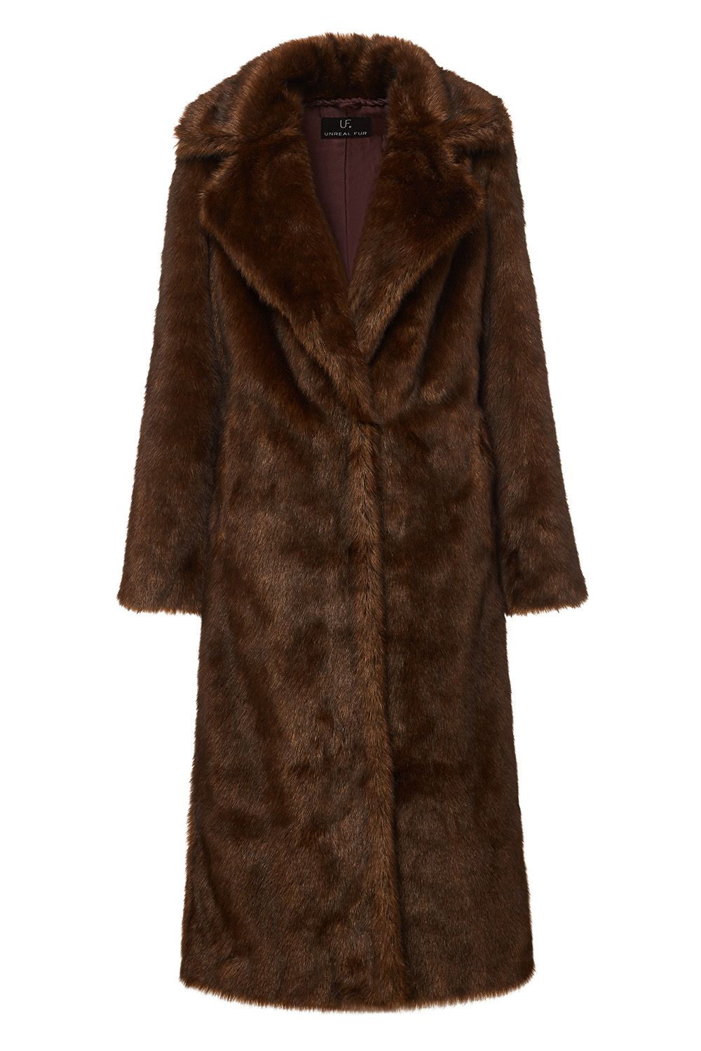 Long Mac Coat in Chestnut