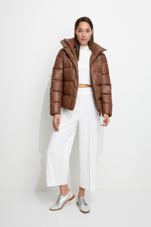 Major Tom Puffer Jacket in Tan
