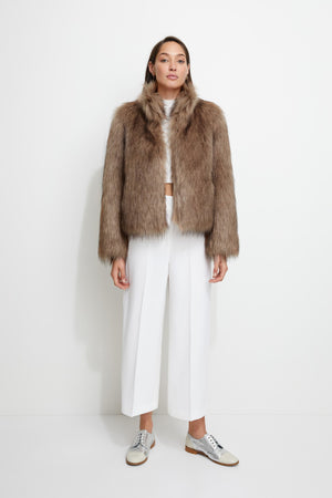 Fur Delish Jacket in Mocha