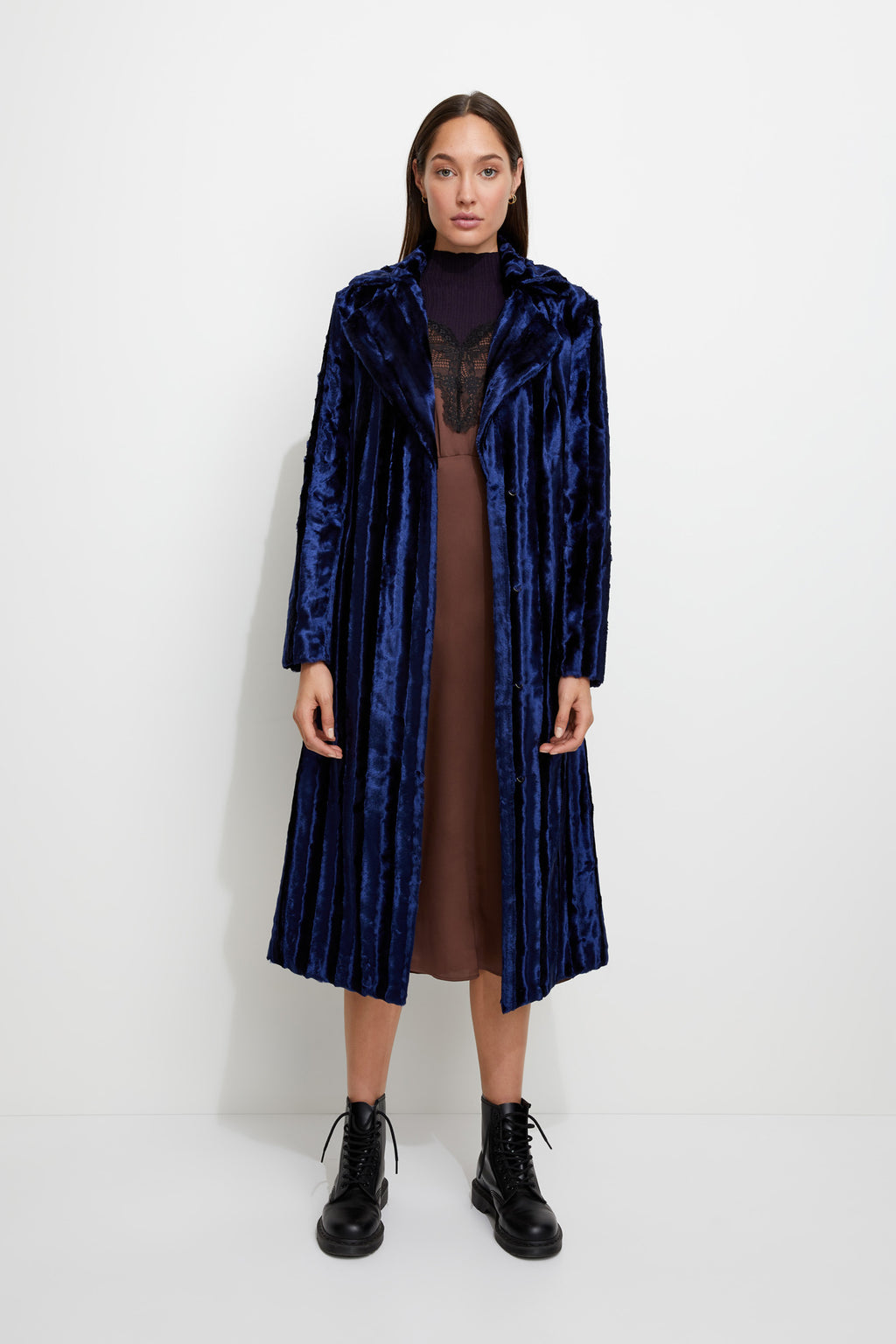 Velvet Underground Coat in Navy