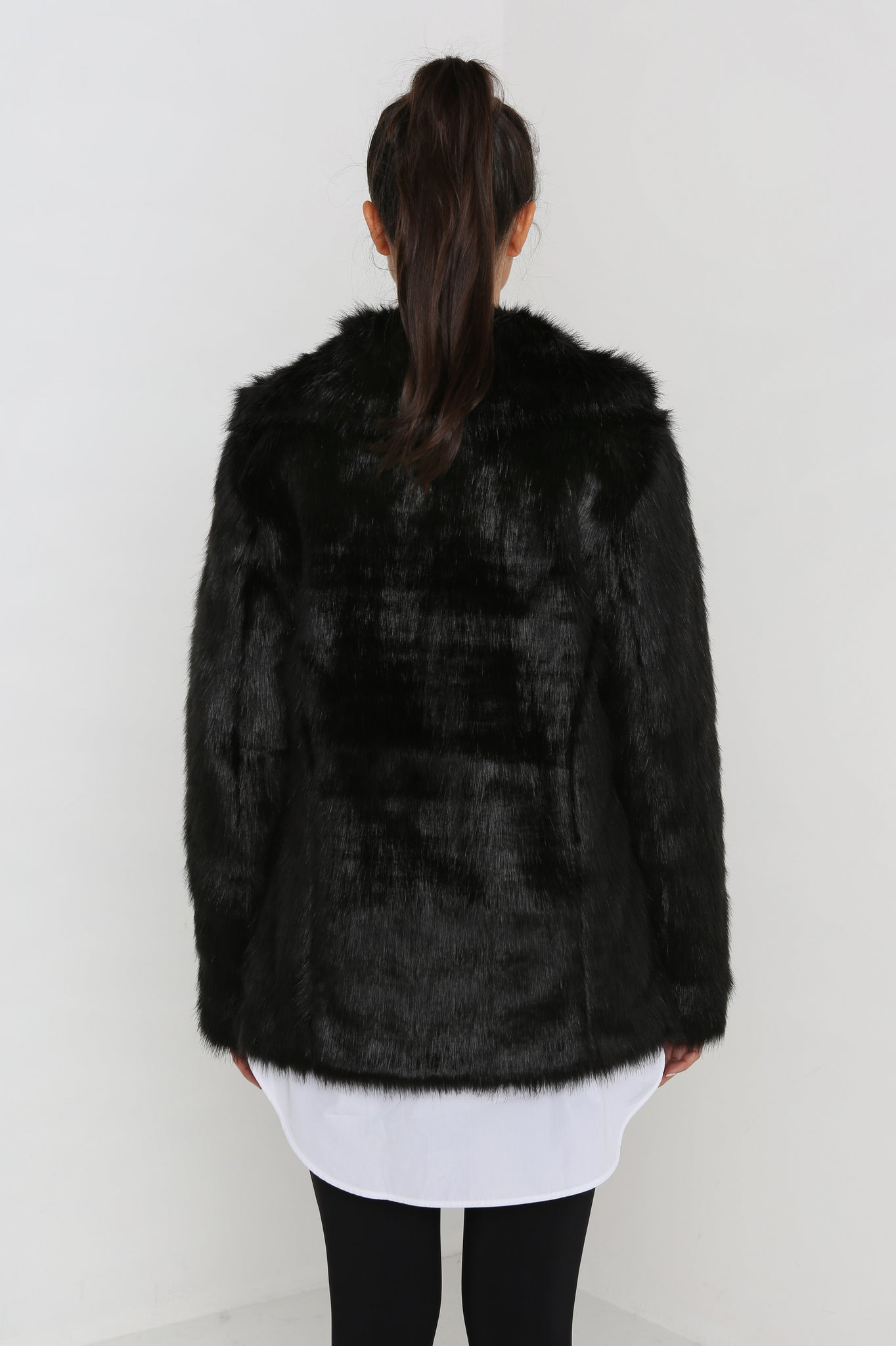 Faux Real Jacket in Black