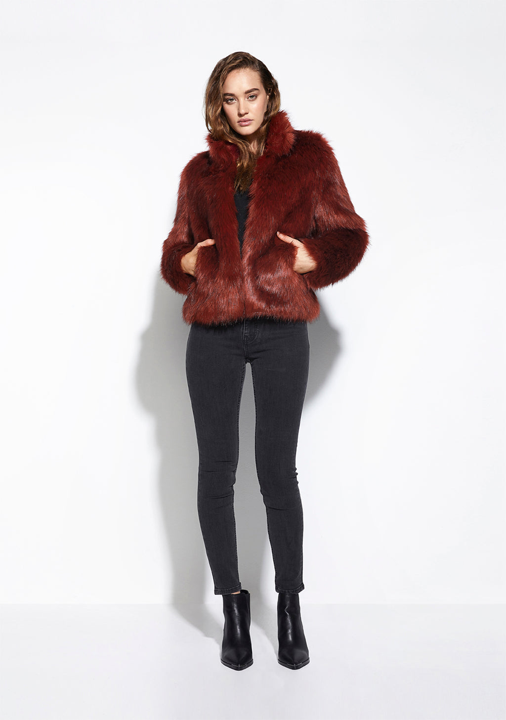 Fur Delish Jacket in Lush Rust