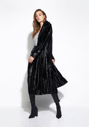 Velvet Underground Coat in Black