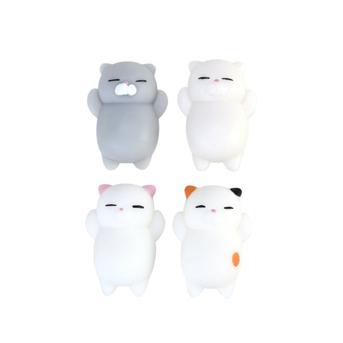 4Pcs Cartoon Kitty Slow Rising Buns Stress Relief Anti-depression Toy
