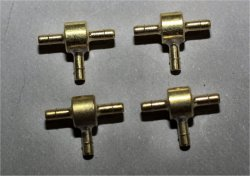 JMP T-Fittings Brass (4 per pack)