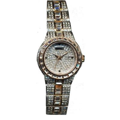 Croton Womens Stainless steel Two Tone Baguette bezel Watch
