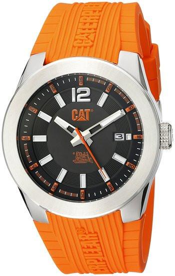 CAT WATCHES Men's AB14124134 T7 Date Analog Display Quartz Orange Watch
