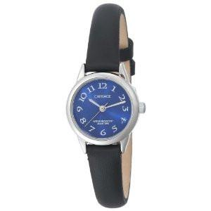 Carriage Womens Silvertone Blue Strap Watch