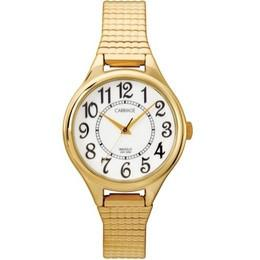 Carraige Womens Goldtone Expansion Band Watch