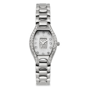 Croton Womens Stainless steel Silvertone Crystal Bezel Watch