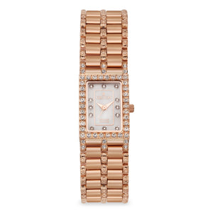 Croton Womens Stainless steel Rosetone Mother of Pearl Watch
