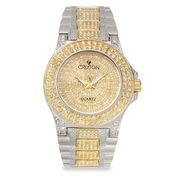 Croton Womens Stainless steelTwo Tone Austrian Crystal Watch