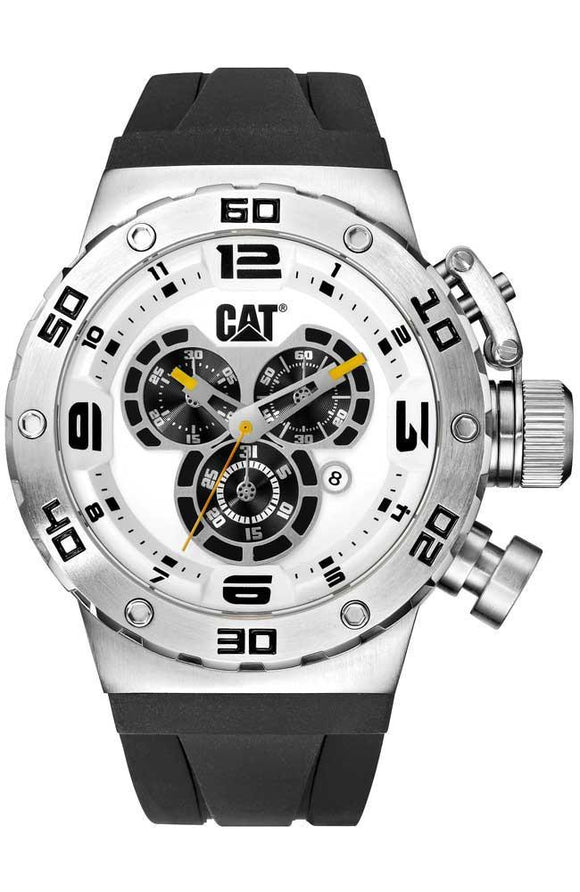 CATERPILLAR DS49 Black Rubber Chronograph Watch