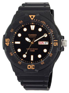 Casio Mens  Black Resin Dive Watch