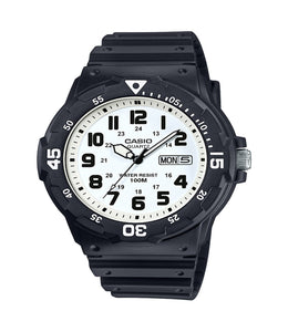 Casio Men's Dive Style Watch, Black/White