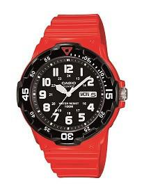Casio Mens  Red Resin Dive Watch