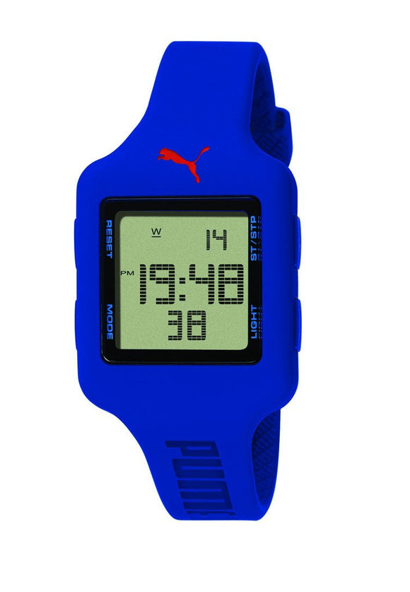 PUMA Womens Slide-S Deep Blue Digital Watch