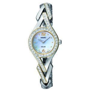 Seiko Womens Two Tone Solar Stainless Dress Watch