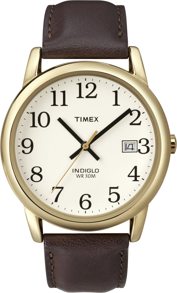 Timex Mens Easy Reader Goldtone Strap Watch