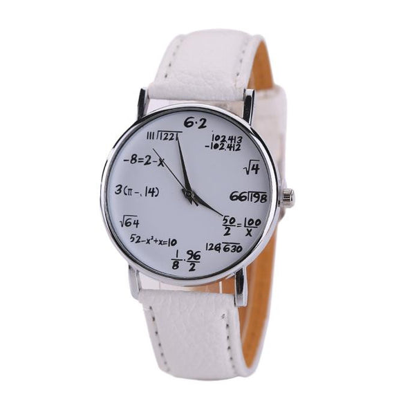 Leather Stainless Steel Sport Quartz Wrist Watch