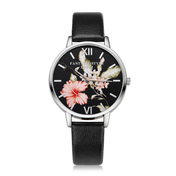 Fashion Leather Band Analog Quartz Round Wrist Watch Watches