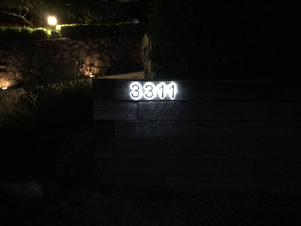 backlit led house numbers