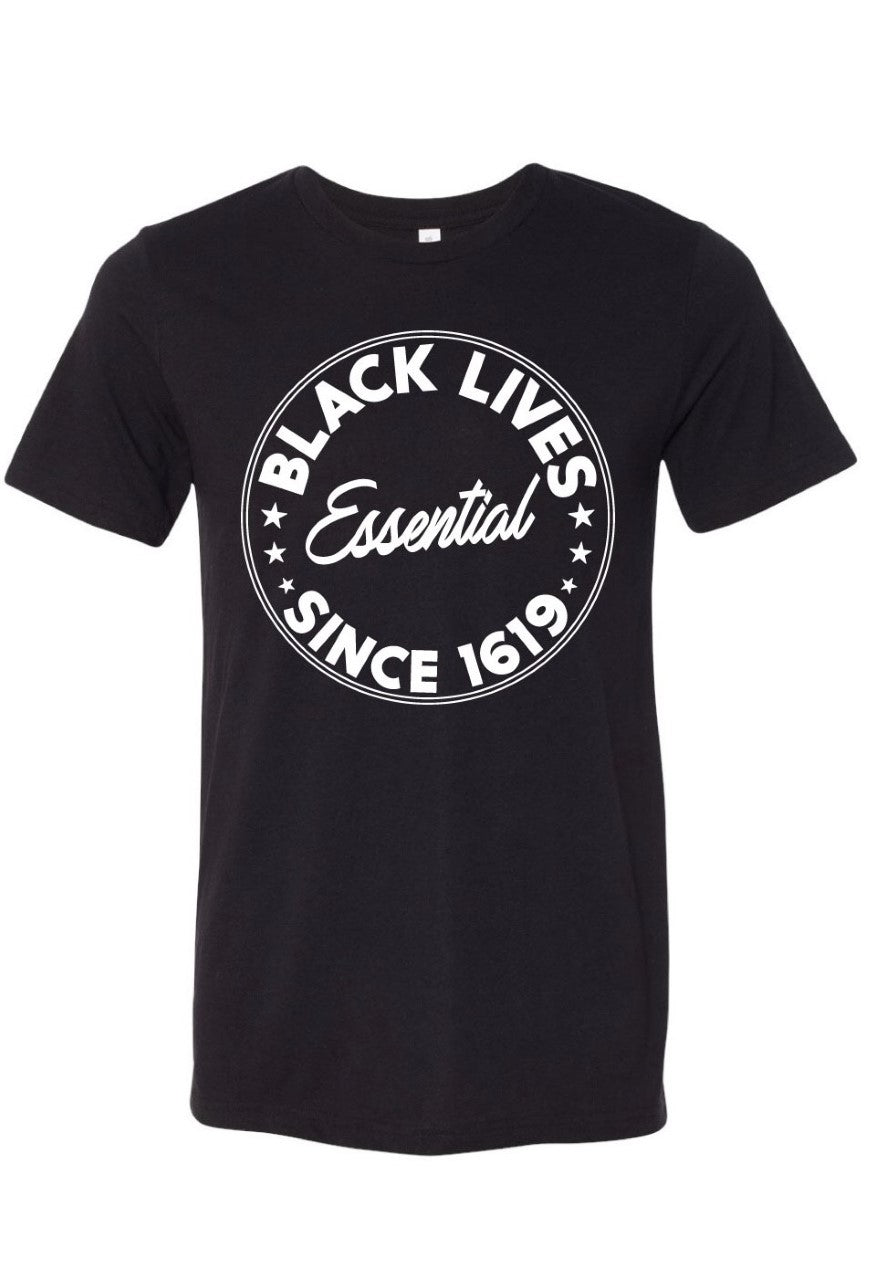 BLM Essential Canvas T-Shirt-Black