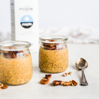 Drink Simple Pumpkin Overnight Oats