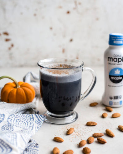 Maple Water Charcoal Latte