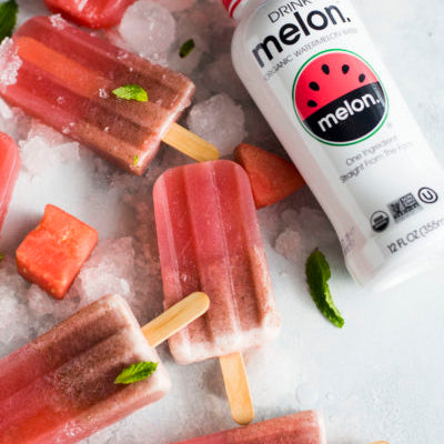 Watermelon Water & Strawberry Pops