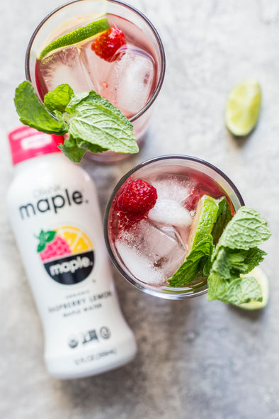 Raspberry Maple Water Mojito