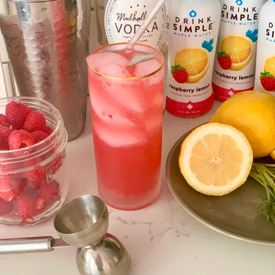 Spiked Raspberry Sage Lemonade