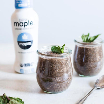 MINT CHOCOLATE CHIA PUDDING