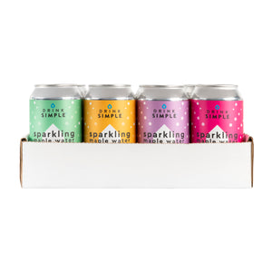 Mixed 12 Pack Sparkling Maple Waters- Cucumber Lemon, Raspberry Lemon, Blackberry Lemon, and Orange Mango