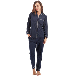 Women's 100% Cotton Pajama Set Long Sleeve Sleepwear