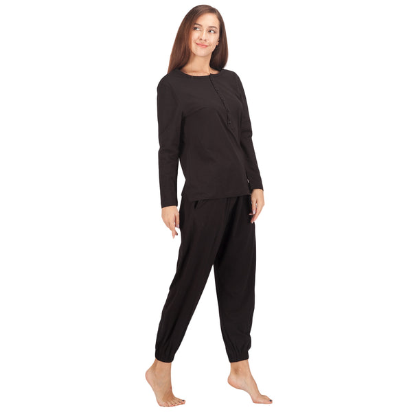 WEWINK CUKOO Womens Cotton Pajama Sets Long Sleeve Sleepwear Cozy PJ Set