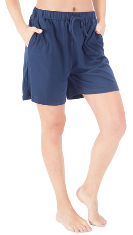 WEWINK CUKOO Women's Elastic Waist Runner Pants Active Lounge Shorts