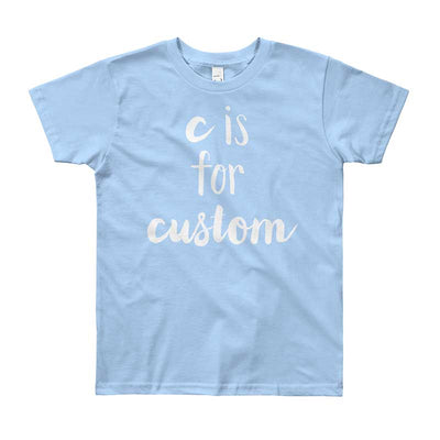 """A Custom Lettering Design"" - Customized Short Sleeve Kid's Tee (More Options)"