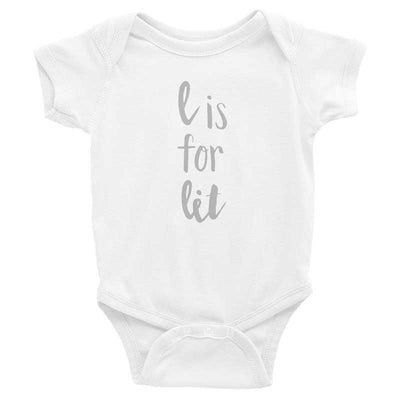"""L is for Lit"" Baby Onesie (More Options)"