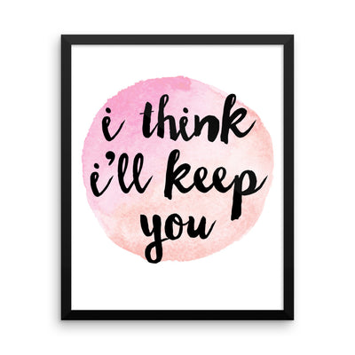 """For Keeps"" Framed Poster (More Options)"
