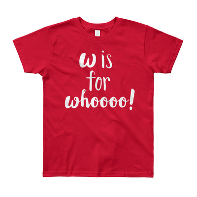 """W is for Whooo!"" Short Sleeve Big Kid's Tee (More Options)"