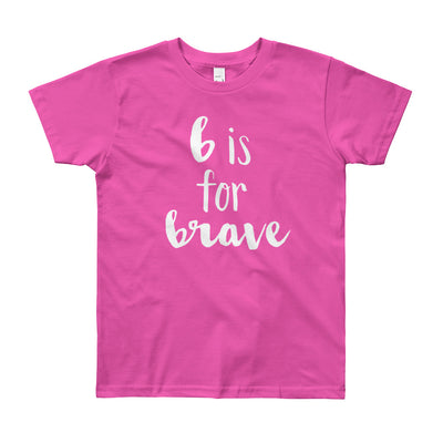 """B is for Brave"" Short Sleeve Big Kid's Tee (More Options)"