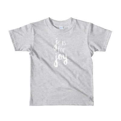 """J is for Joy"" Short Sleeve Little Kid's Tee (More Options)"