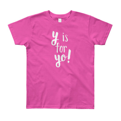 """Y is for Yo!"" Short Sleeve Big Kid's Tee (More Options)"