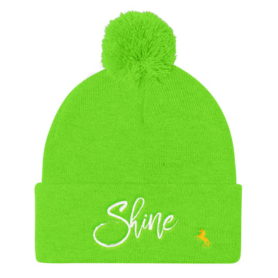 """Shine"" Pom Pom Knit Cap (More Options)"