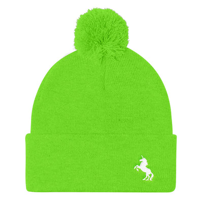 """Itty Bitty Unicorn"" Pom Pom Knit Cap (More Options)"