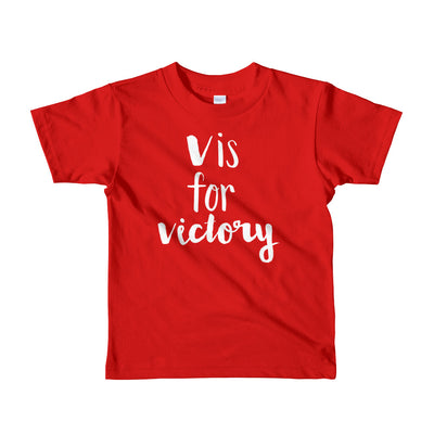 """V is for Victory"" Short Sleeve Little Kid's Tee (More Options)"