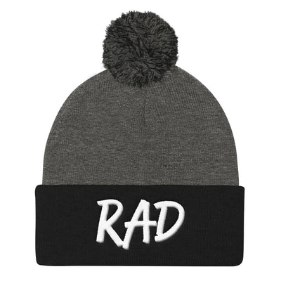 """Rad"" 3D Puff Pom Pom Beanie (More Options)"