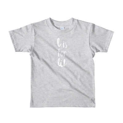 """L is for Lit"" Short Sleeve Little Kid's Tee (More Options)"