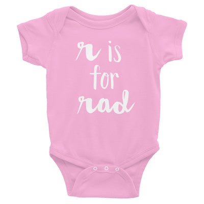"""R is for Rad"" Baby Onesie (More Options)"